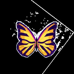 Fjäril vingad syns på Haga