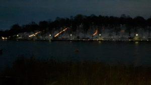 Ljusdekorationer i Bellevueparken. Foto: Suzanne Kolare